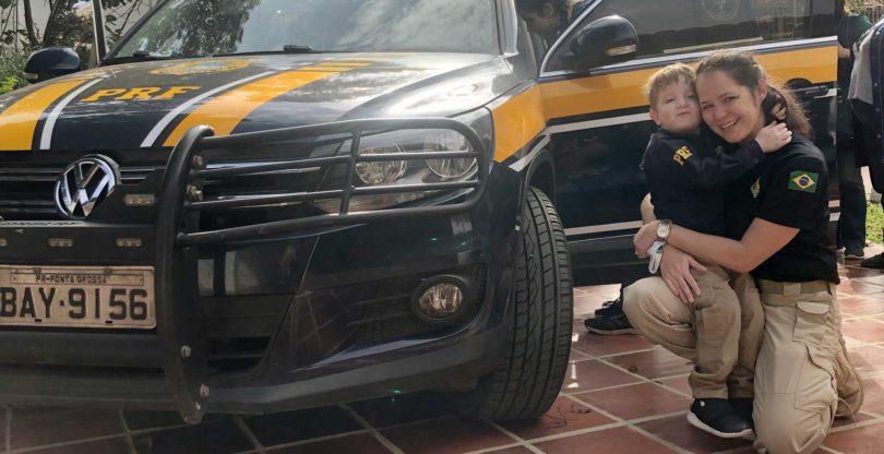 Visita da PRF / Besuch von der Autobahnpolizei