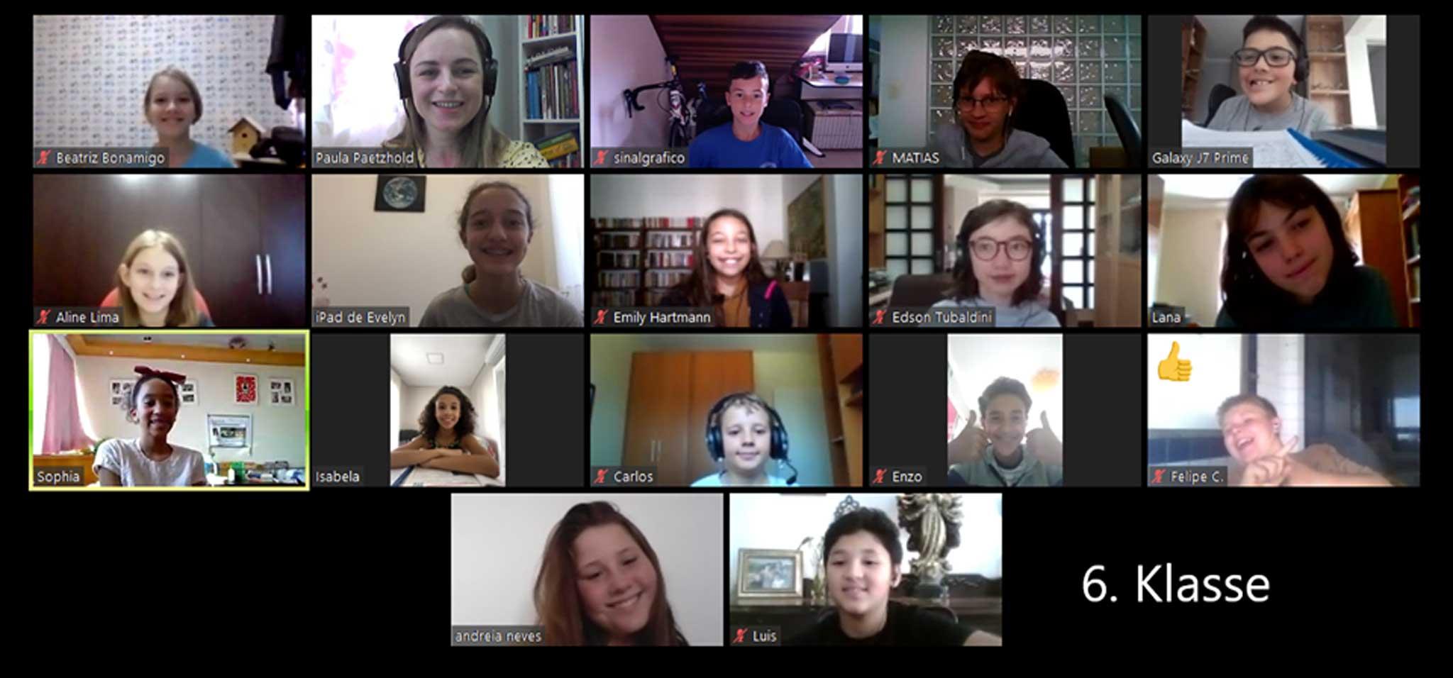 Aulas online / Online-Unterricht