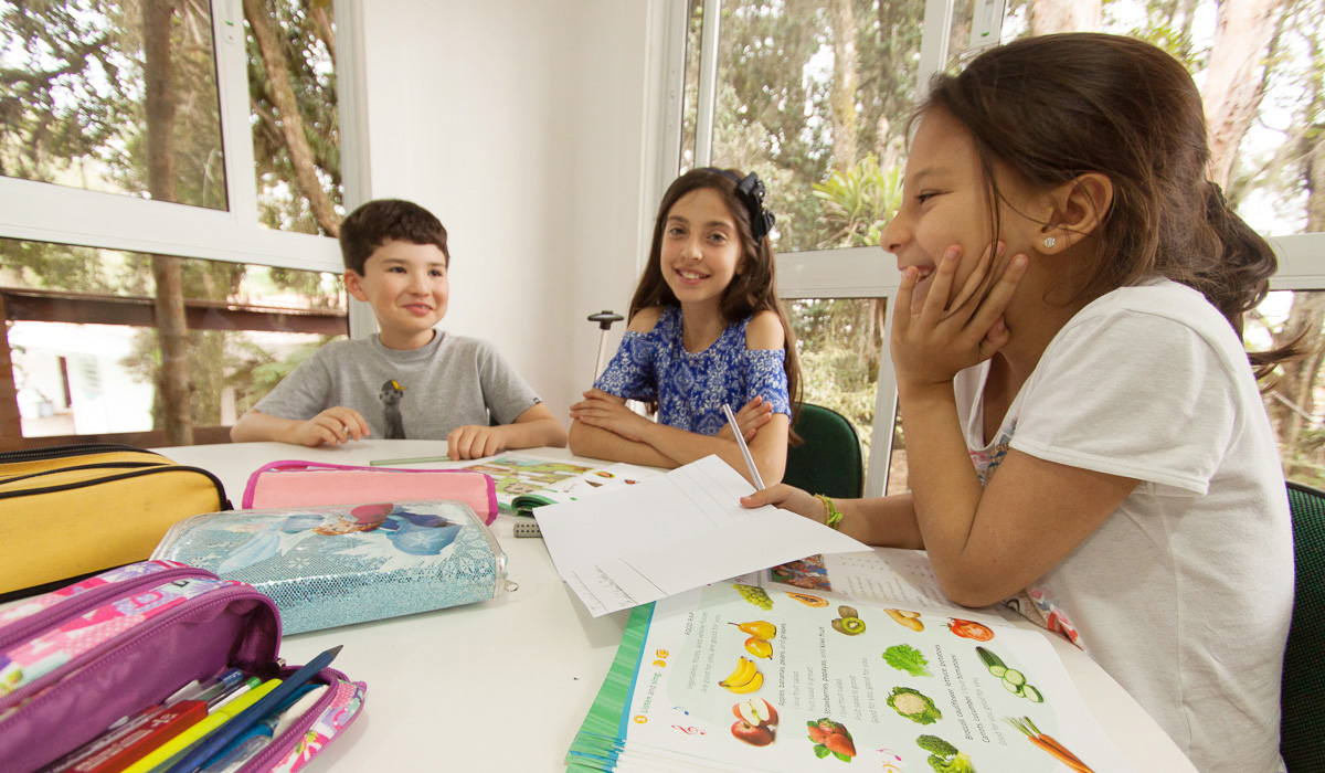 Sala de aula do Ensino Fundamental I da Escola Alemã de Curitiba