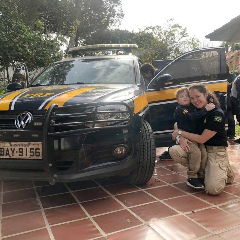 Visita da PRF  | Besuch von der Autobahnpolizei